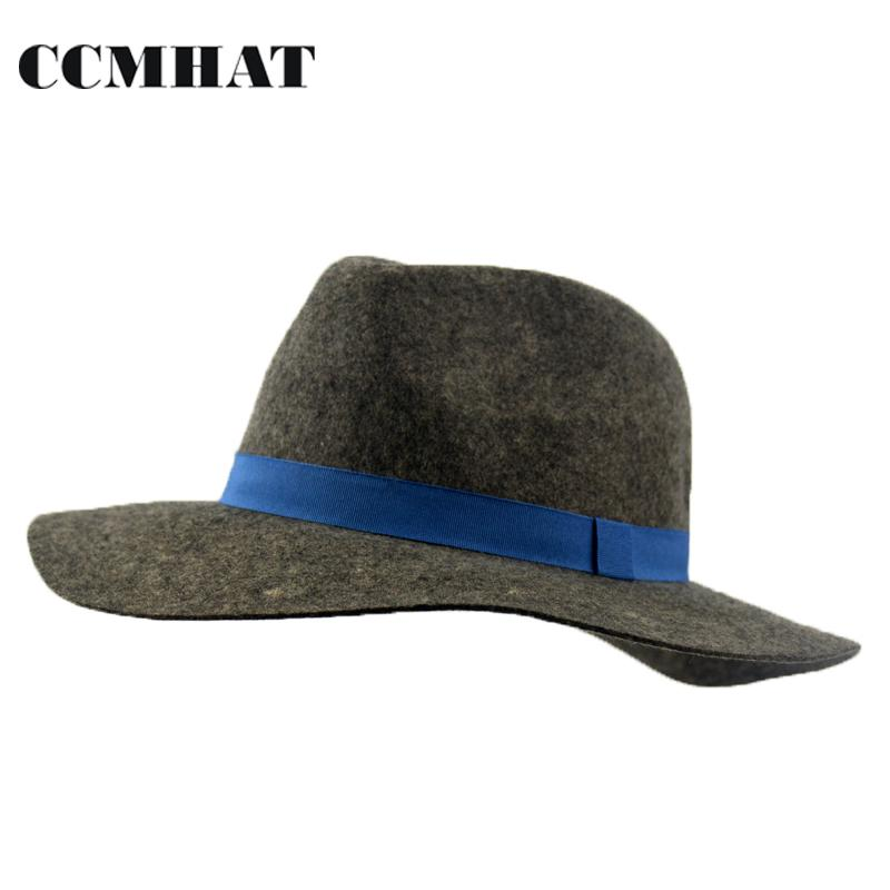 2018 Fashion Soft Fedora Hat for Woman   Men. 100% Wool Winter Fedora Hats  For Men in Black Wool Adjustable Size Chapeau Homme Hat Gender  Unisex  Style  ... 8ad8391d7b8