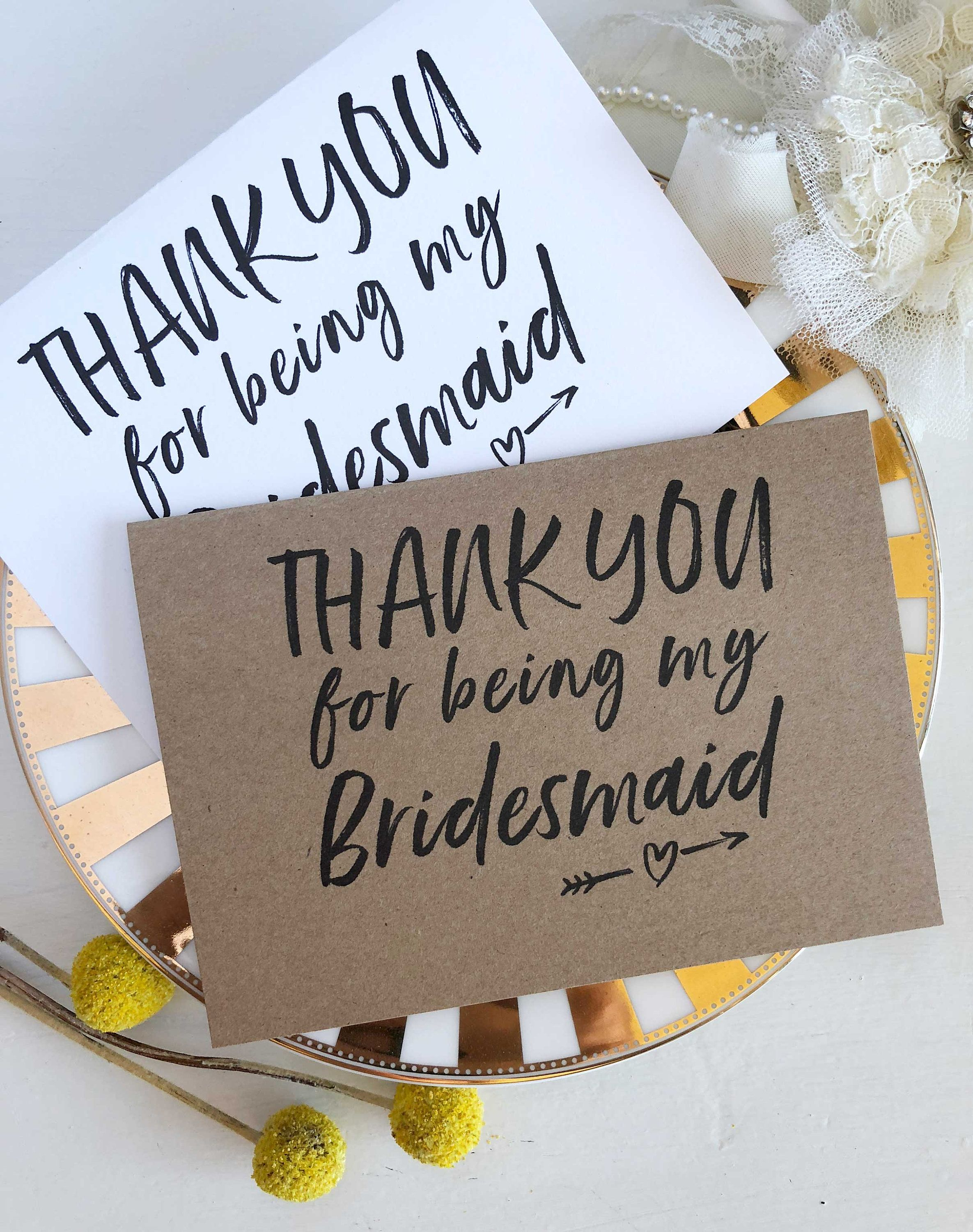 thank you for being my bridesmaid cardcocopressdesigns
