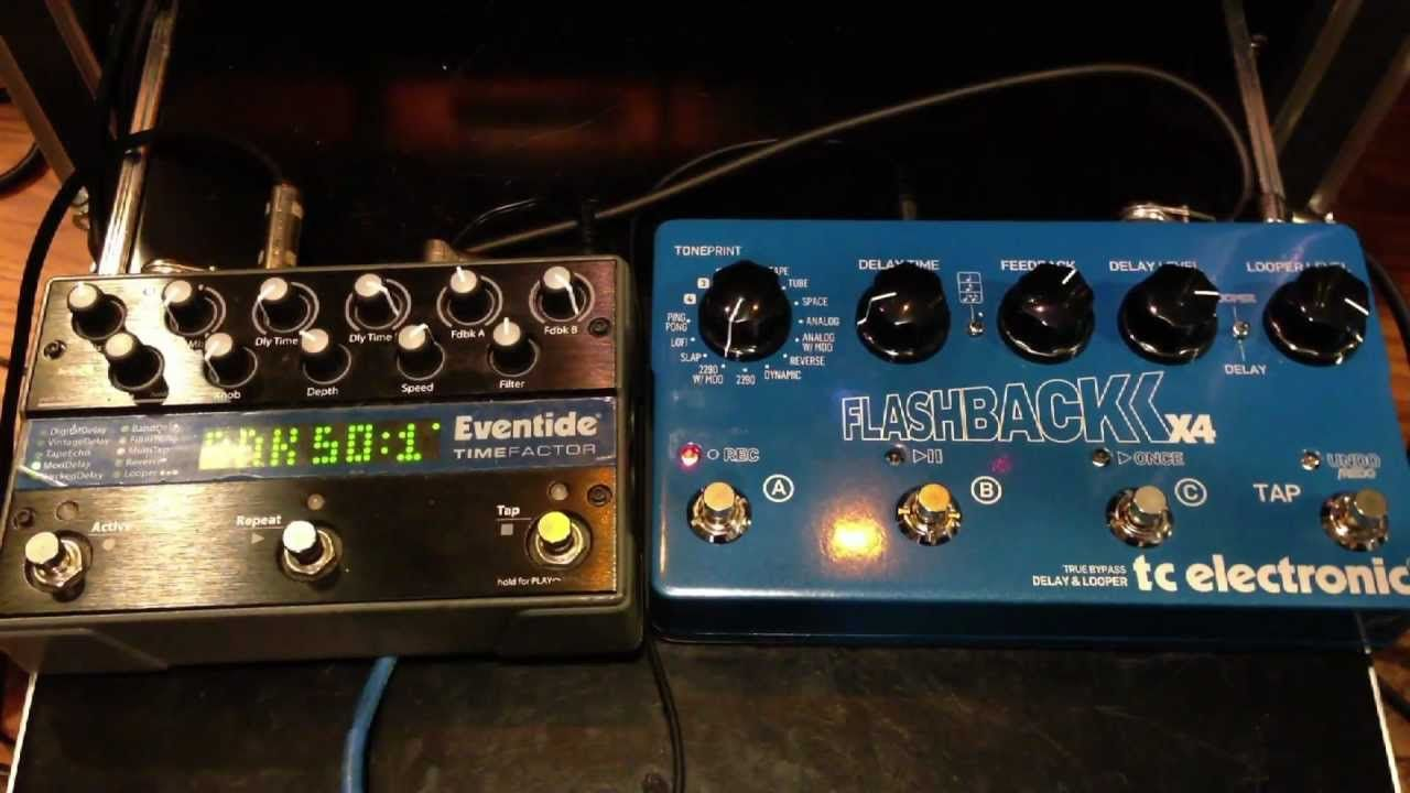 Tc Electronic Flashback X4 Vs Eventide Timefactor Guitar Pedals Guitar Effects Electronics