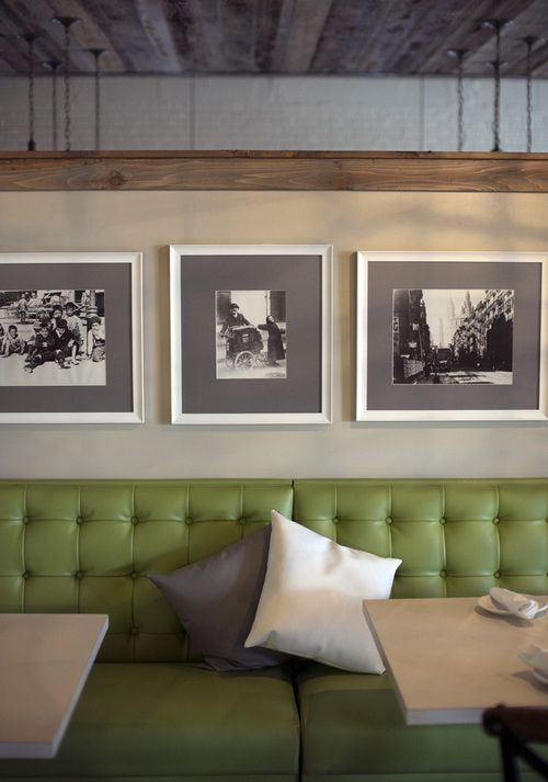 Green Upholstered Seating Area Inside Columbia, S.C. Italian Restaurant  Pasta Fresca. Full Scale · Commercial Interior DesignCommercial ...