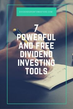 7 powerful and free dividend investing tools all DGI investors should use. Build your dividend stock portfolio for passive income retirement! #stockportfolio