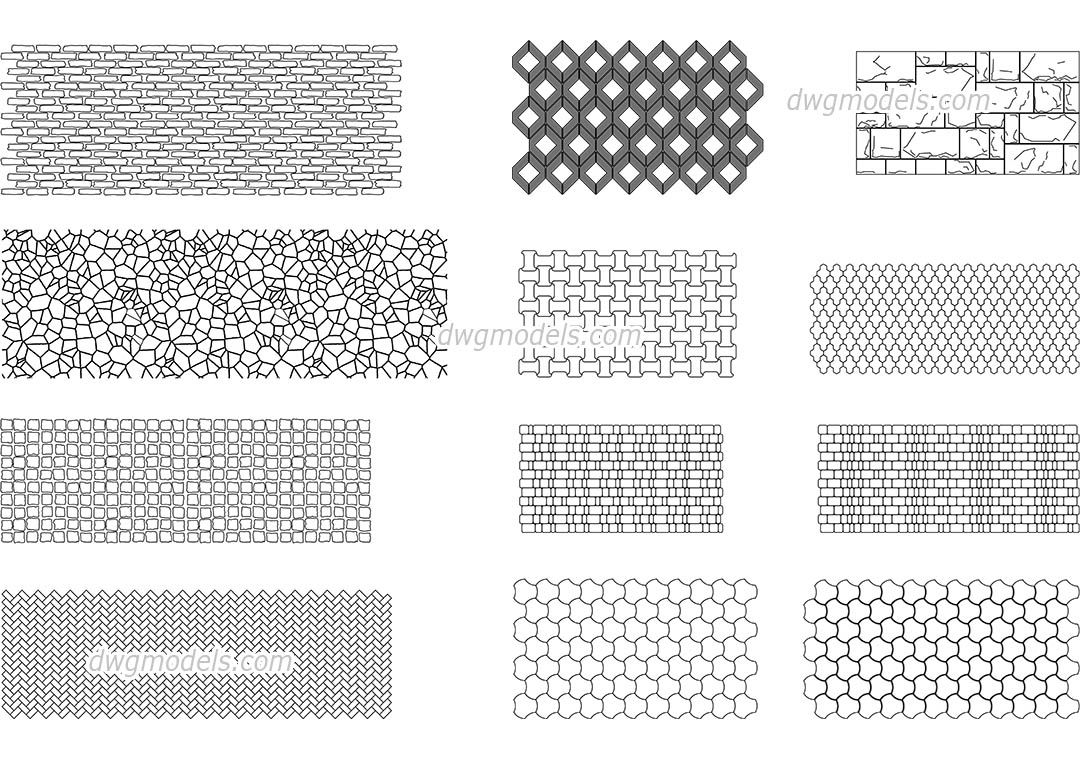 Stone Work In Elevation Symbol : Seamless texture of stone cad blocks free dwg file