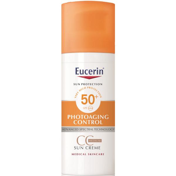 Sun Cc Creme Spf 50 Eucerin Protección Solar Tonos De Piel Protector Solar