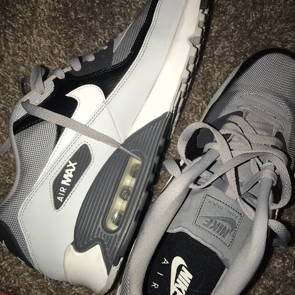 Nike Air Max 90 Men's Shoes Black Silver White
