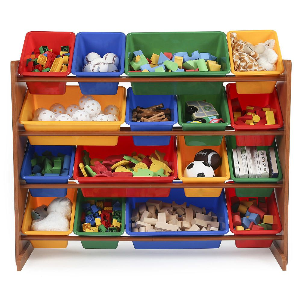 video review for tot tutors dark pine with primary colors super size organizer showcasing product features - Tot Tutors Book Rack Primary Colors