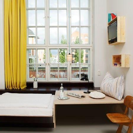 yellow curtain budget hotel Berlin