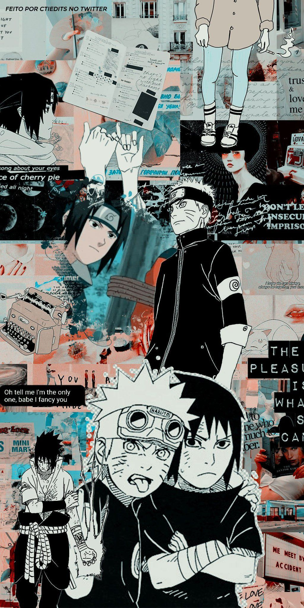 Power Edits On Naruto And Sasuke Wallpaper Anime Wallpaper Cute Anime Wallpaper