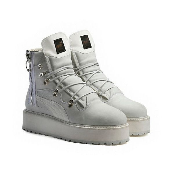 purchase cheap b70f3 d800c Puma SNEAKER BOOT WHITE (2,235 CNY) ❤ liked on Polyvore ...