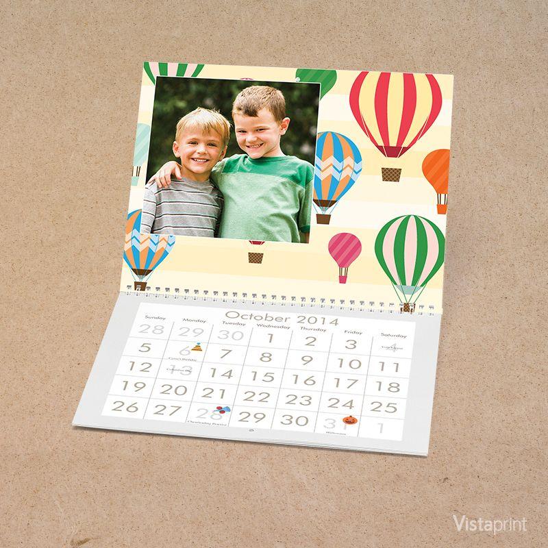 Hot Air Balloon Wall Calendar Vistaprint Personalised Photo