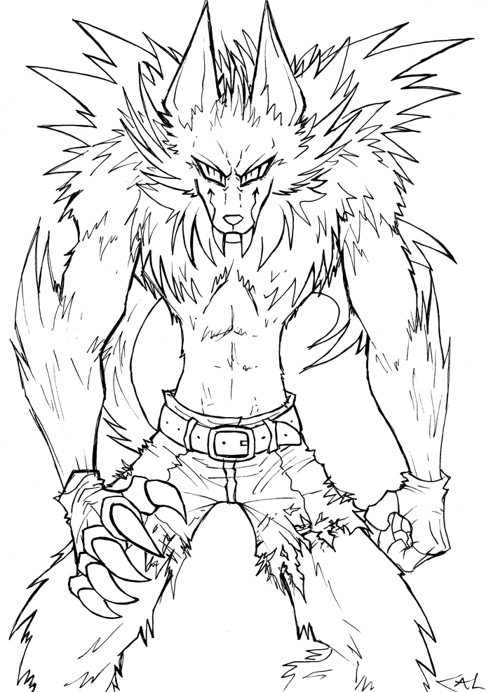 Werewolf Lineart Werewolf Drawing Halloween Coloring Pages Monster Coloring Pages