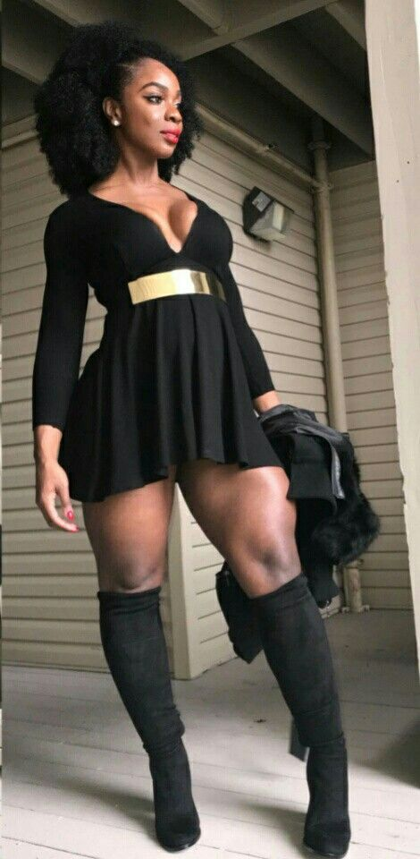 Big thigh ebony