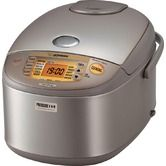 """Induction Heating 9.37"""" Pressure Rice Cooker/Warmer in Stainless Brown"""