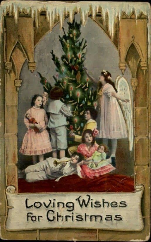Immagini Natale Anni 50.Angeli E Bimbi Natale Antico Angeli Di Natale Biglietti Di Natale Vintage
