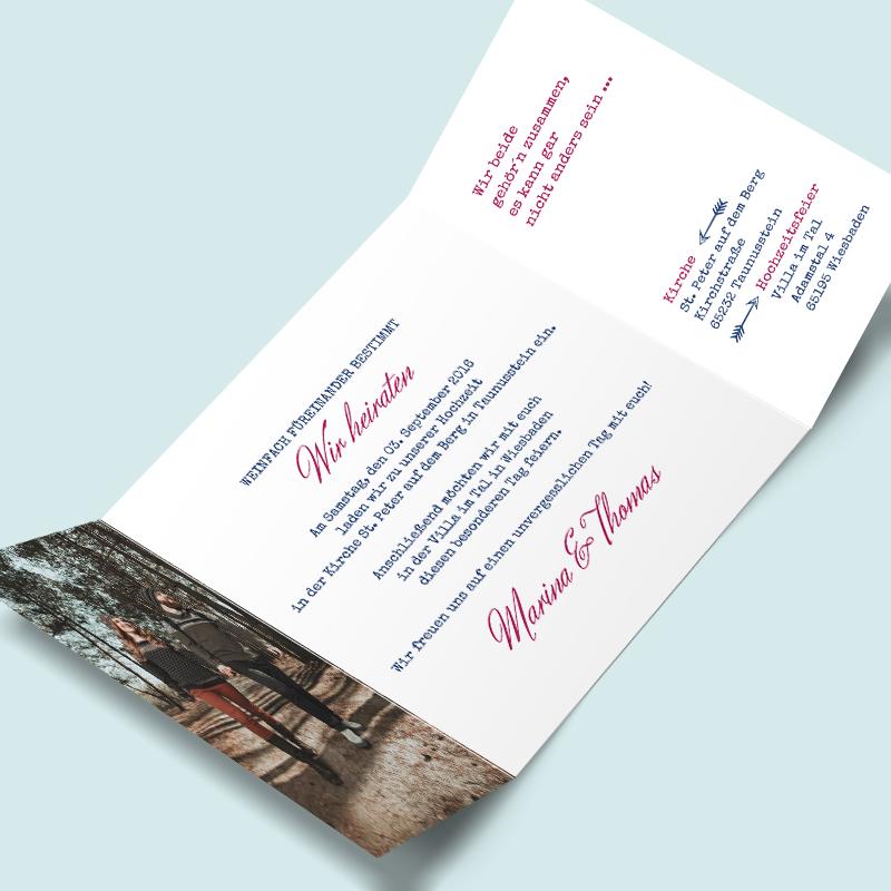 Hochzeitseinladung selbst gestalten schlicht & elegant Einladung