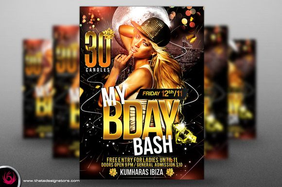 My Birthday Bash Flyer Template  Flyer Template And Template