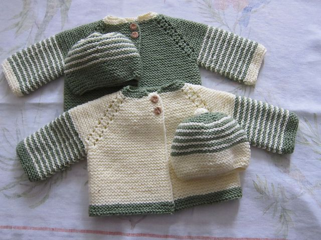 45f387a04753 Top Down Garter Stitch Baby Jacket pattern by Nancy Elizabeth Munroe ...