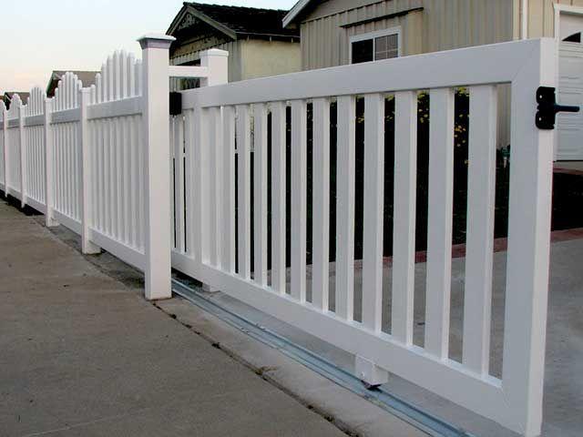 Vinyl Rolling Gate Design Ideas Pictures Vinyl Concepts Backyard Gates Gate Design Fence Gate