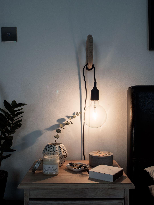 Converting A Muuto E27 Pendant Lamp Into A Bedside Lamp Style Minimalism Pendant Lamps Bedroom Bedside Lamps Design Bedside Pendant Lights