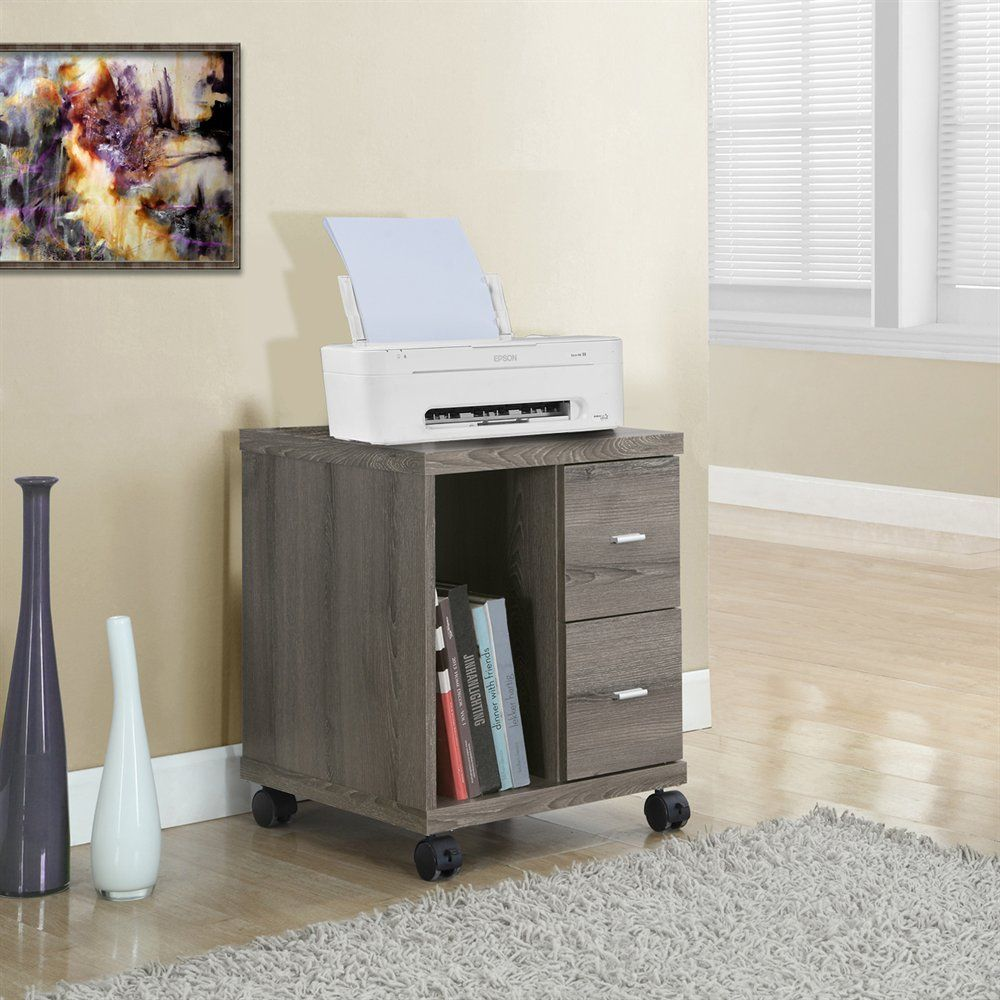 Monarch Specialties I 705 2-Drawer Mobile Computer Stand | ATG Stores