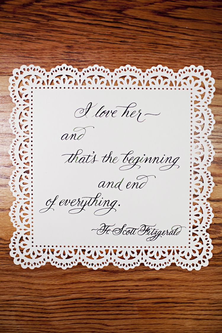 Wedding decorations quotes  The Great Gatsby  Wedding Inspiration  Wedding Decorations