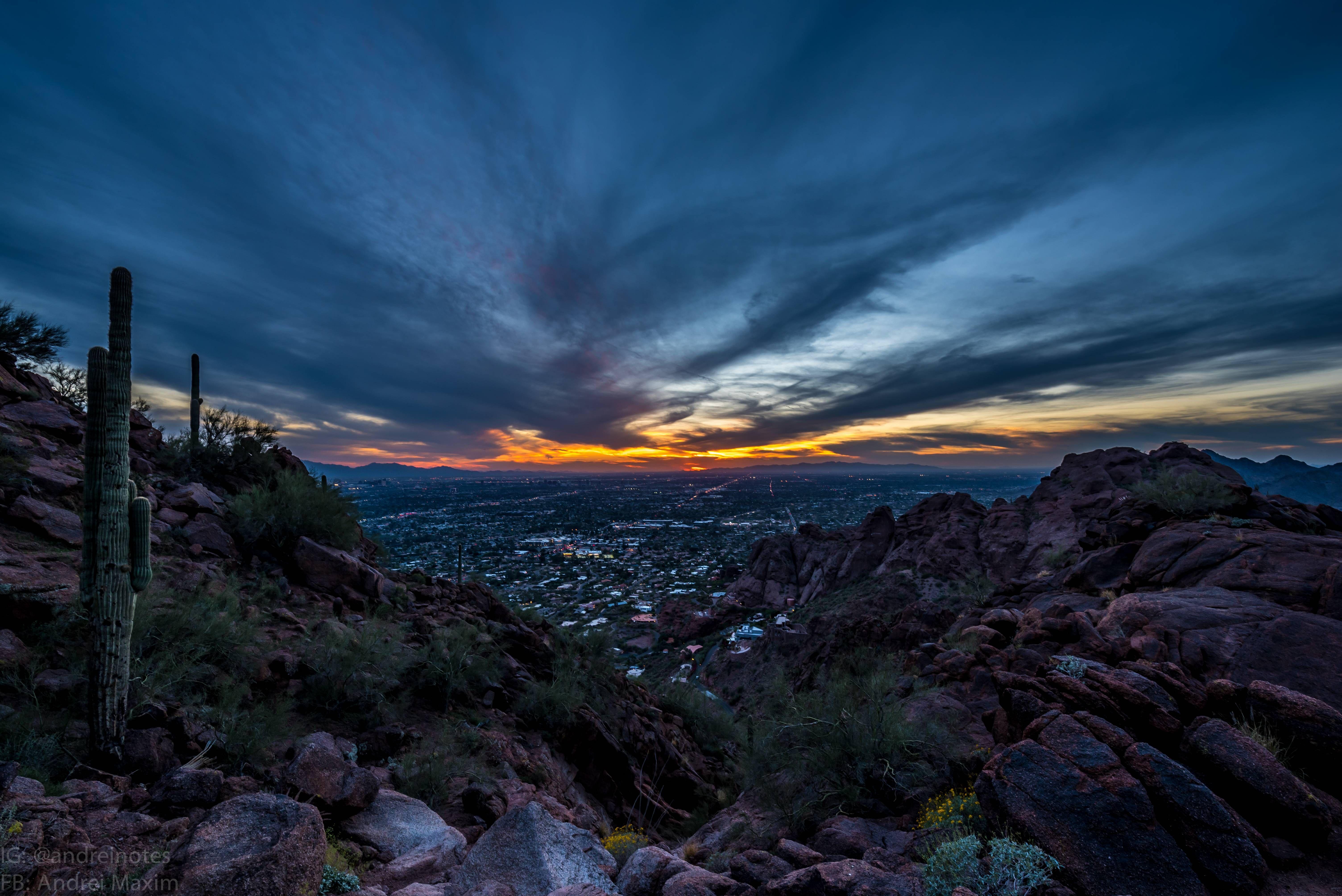 wallpaper sunset mountain arizona - photo #11