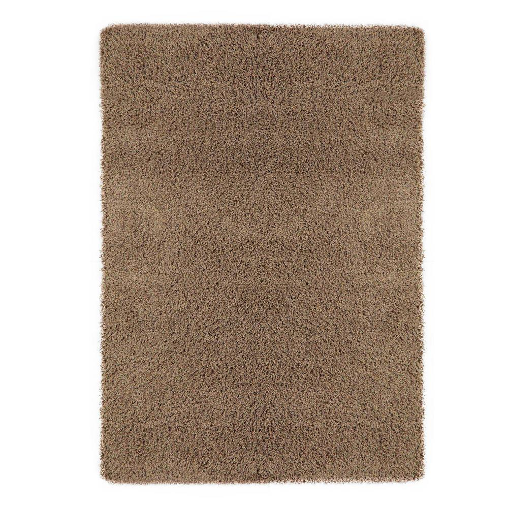Sweet Home Stores Cozy Shag Collection Beige 8 Ft X 10 Ft Indoor Area Rug Area Rugs Rugs Beige Area Rugs