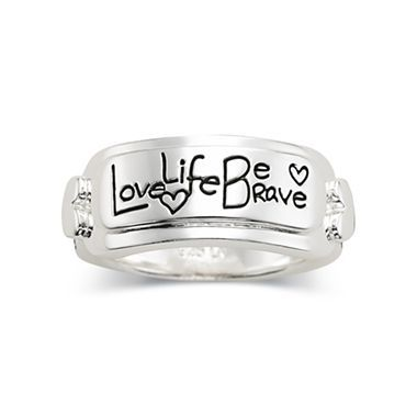 Silver Love Life Be Brave Ring Jcpenney Bling It On