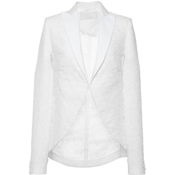 Antonio Berardi Lace Jacket ($2,465) ❤ liked on Polyvore featuring outerwear and jackets