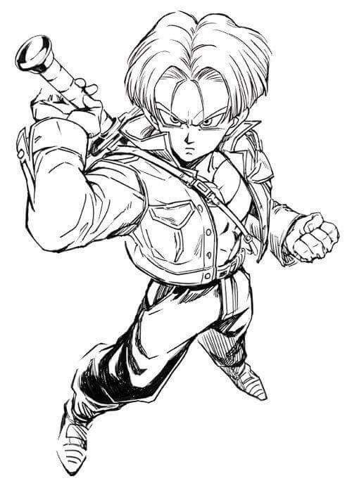 Trunks dbz dragonball series pinterest sangoku - Comment dessiner trunks ...