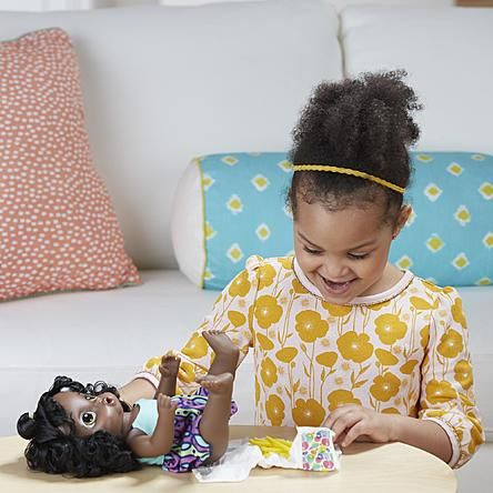 African American Baby Alive Interactive Talking Speaking English Spanish Baby Doll Super Snacks Baby Alive Cool Baby Stuff Baby Dolls