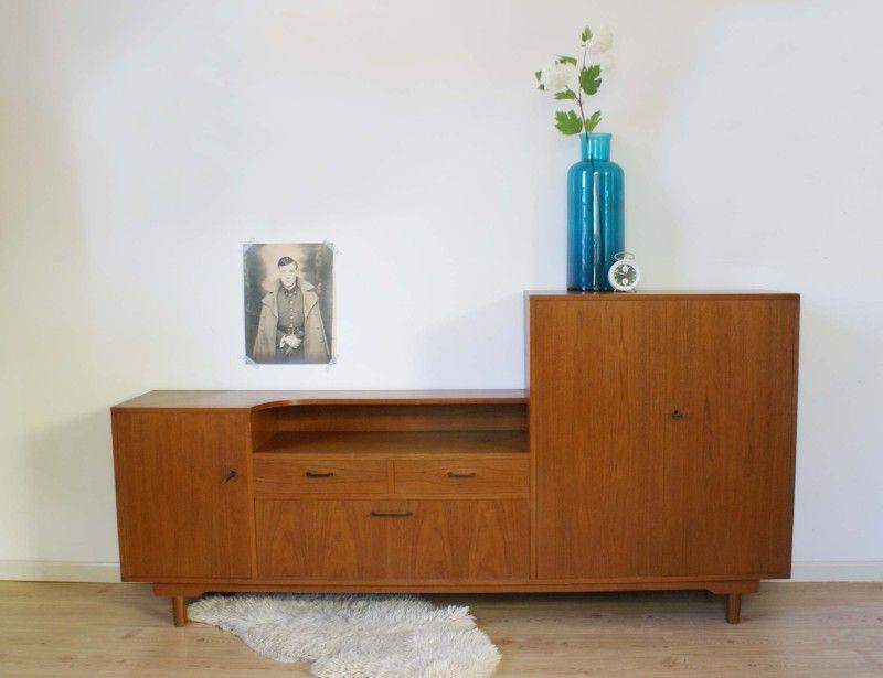 Jaren 60 Kast : Schitterende vintage jaren kast houten retro dressoir
