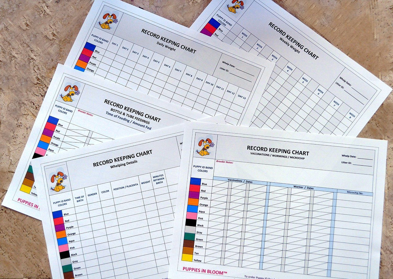 Puppy Growth Chart Template Record Keeping Charts For Breeders U2014 FREE  Printable Puppy Forms