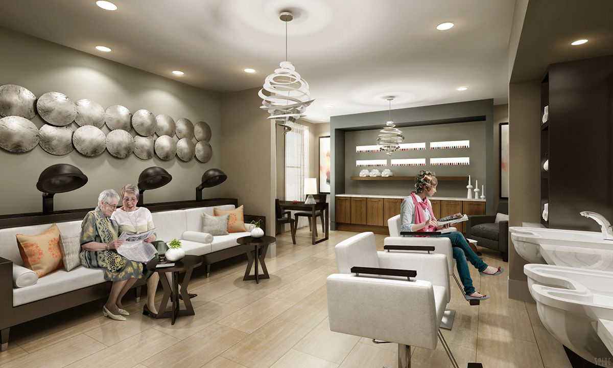 Salon Senior Avanti Senior Living Salon Spa Design Senior Living