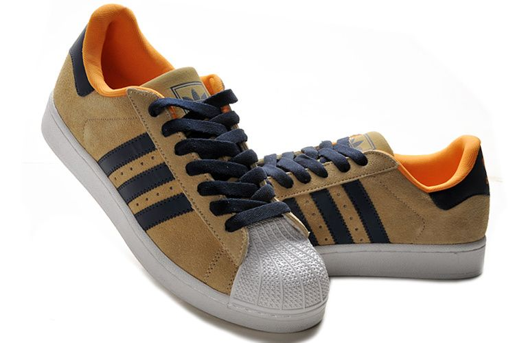 Adidas Superstar Shoes Brown White