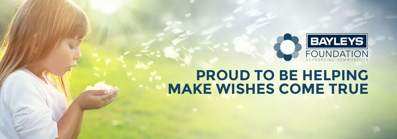 Makeawish bayleysbanner wish come true make a wish