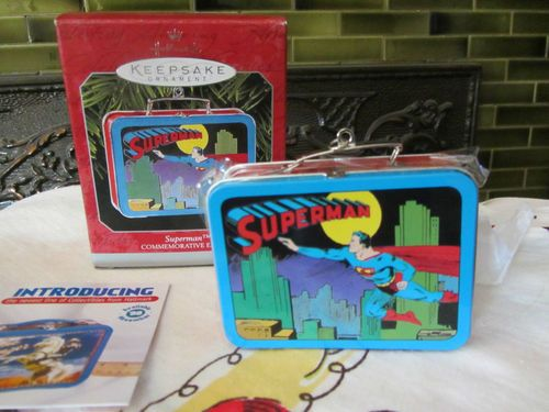 hallmark superman lunchbox ornament new in box http://stores.ebay.com/lastchancewhitakersretrovintage