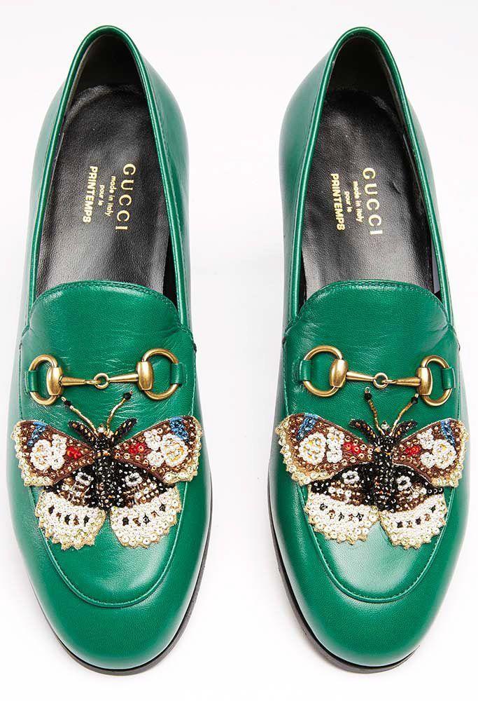 Gucci Chaussures   Les nouveaux modèles en édition limitée de Gucci sont  uniquement disponibles dans un magasin à Paris 916b7b714d4