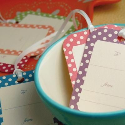 free printables...polka dot gift tags!
