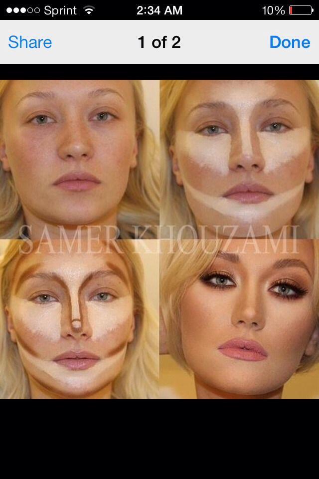 Contour Ur Face Easy Steps | Makeup | Pinterest | Makeup