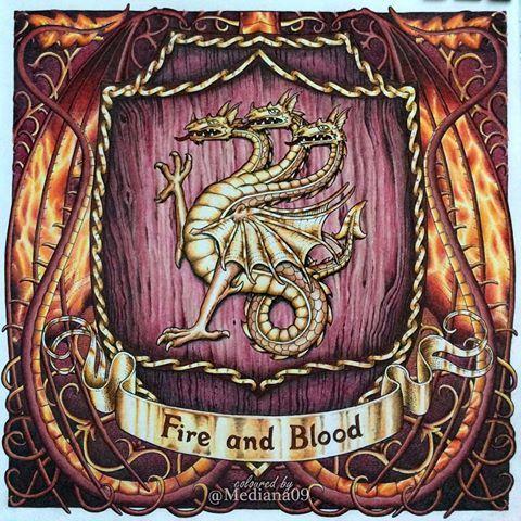 """Готов первый герб из раскраски """"Игра Престолов"""" для ..."""