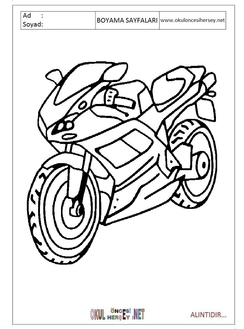 Google Image Result For Https Www Okuloncesihersey Net Images Demo Boyama Ta C5 9f C4 B1tlar Motor Okul C3 B In 2020 Coloring Books Coloring For Kids Coloring Pages