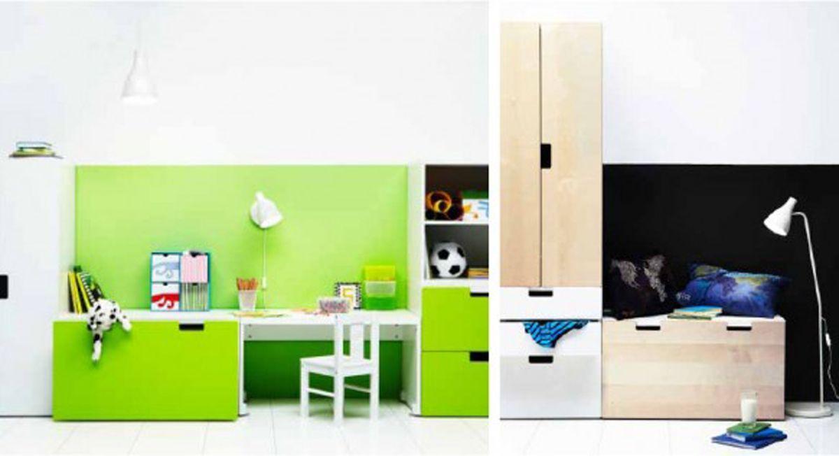 bedroom Furniture Layout - space saving IKEA kids bedroom furniture ...