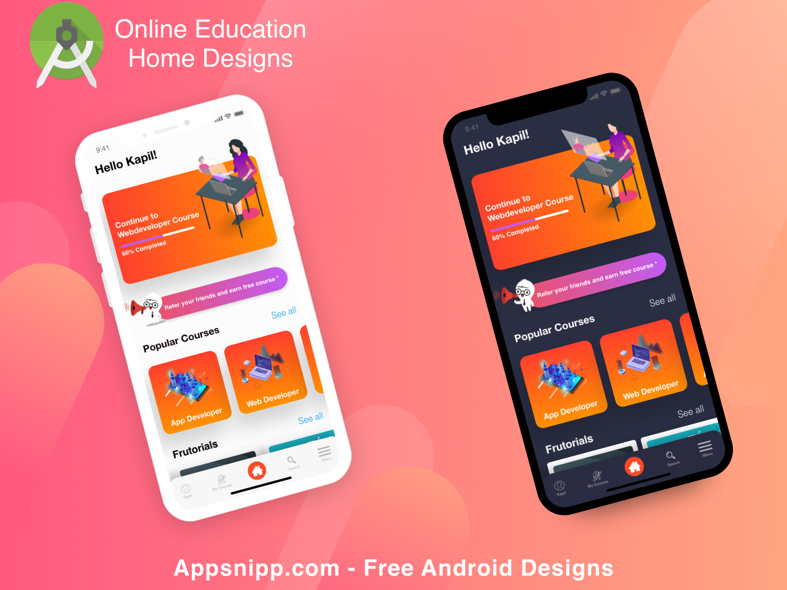 Education App Designs App Design Educational Apps Android Design