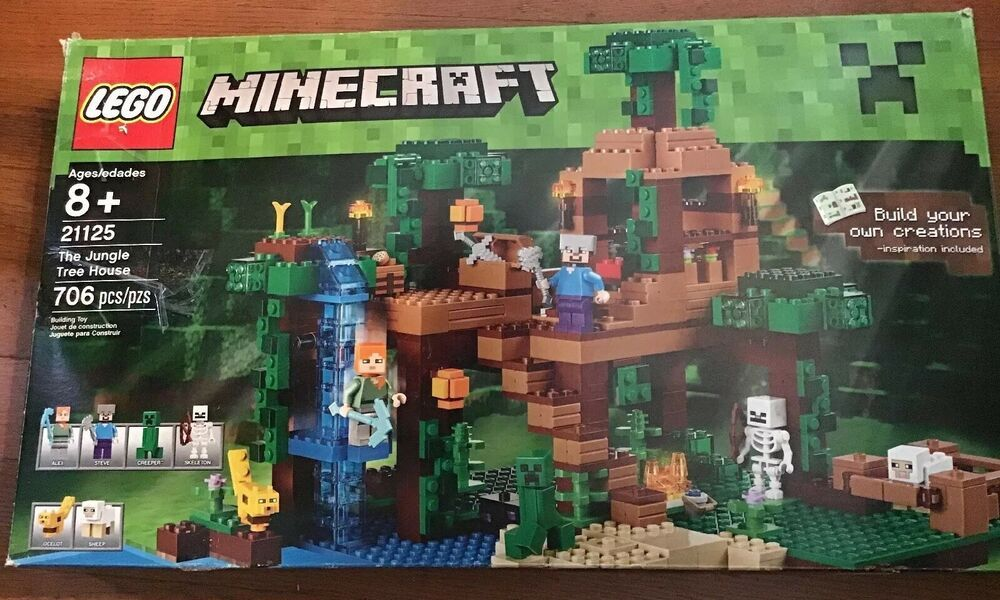 Lego Minecraft 21125 The Jungle Tree House Retired Fast Shipping