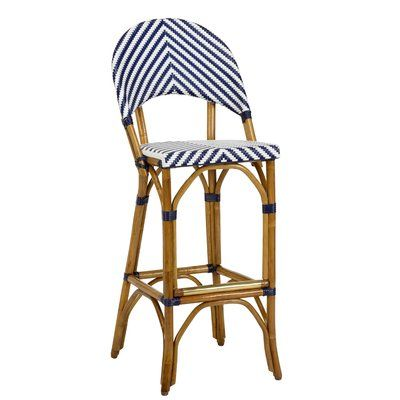 Wildwood Bedford 30 Bar Stool Color Navy White Stool