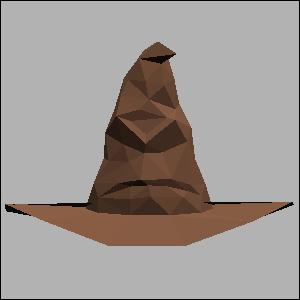 ハリーポッター・組み分け帽子の展開図 似顔絵 無料