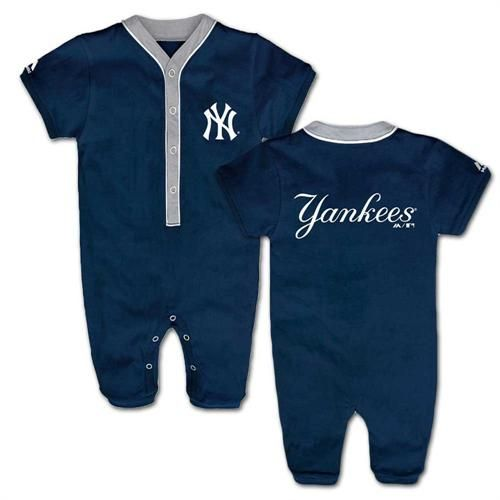 b88f80e5bdf60 Yankees Fan Team Player Coverall  NY  Yankees  Baby  Infant  Coverall   Babyfans