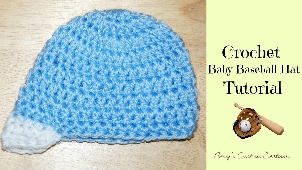Crochet Baby Baseball Hat Tutorial Crochet Jewel Youtube Crochet Baseball Hat Crochet Hats For Boys Crochet Baby Shoes Free Pattern