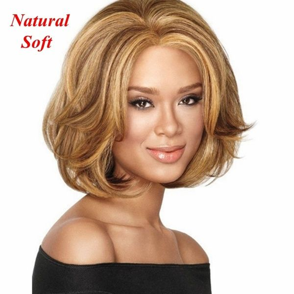 2018 3 Types Hot High Quality Female Lady Wavy Curly Short Light Brown Natural & Soft Short Full Hair Wigs Girl's Stylish Wigs Wavy Wigs Hair Stylish Short Wigs | Wish