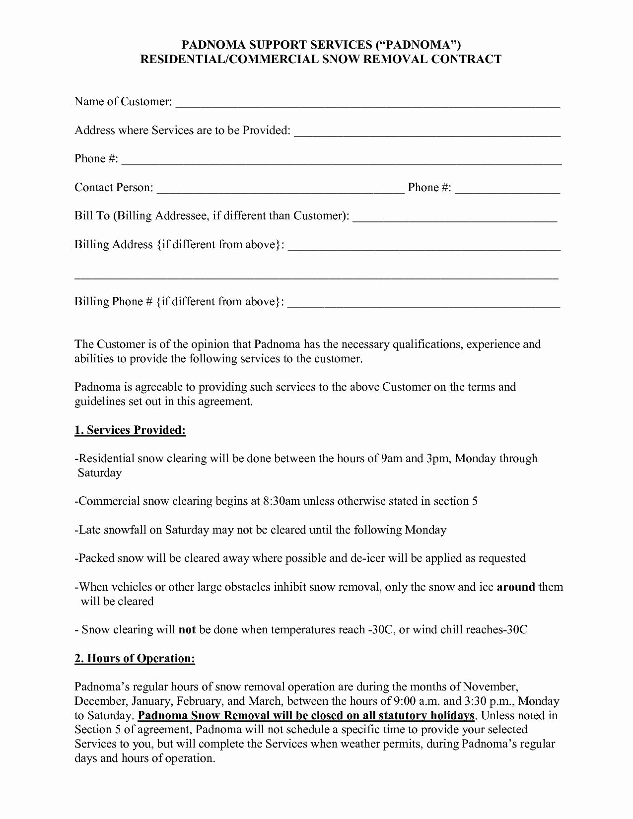 Snow Removal Contract Template Inspirational 10 Best Of Snow Plow Proposal Forms Snow Removal Contract Template Snow Removal Contract Snow Removal Residential snow removal contract template